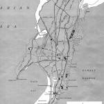 Bombay India historical map 1954 City Plan