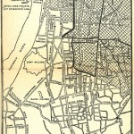 Calcutta map 1945 City Plan