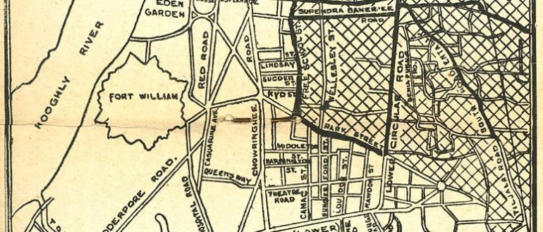 Calcutta-map-1945-City-Plan
