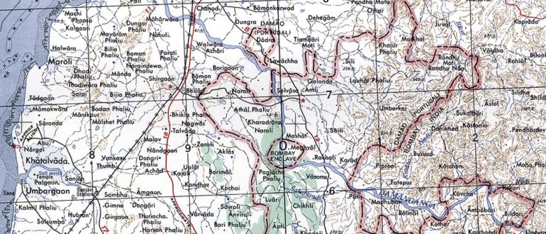 Damao-Daman-1954-Topographic-india-Map