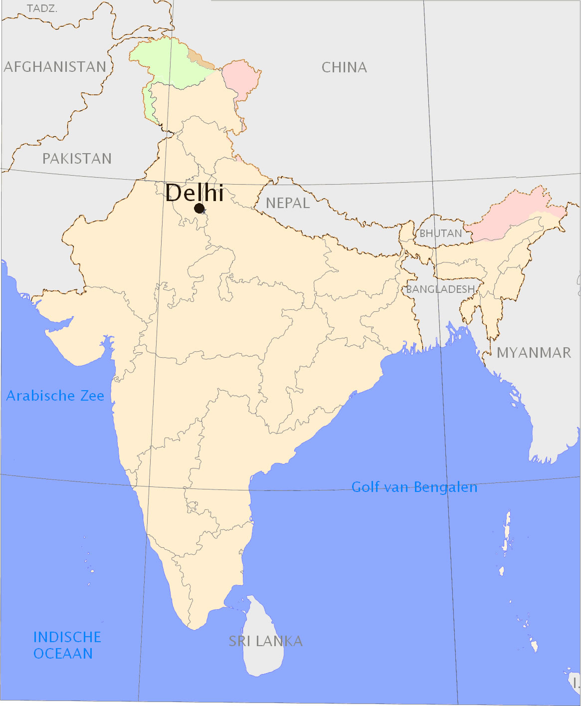 Delhi Location - Maps of India on