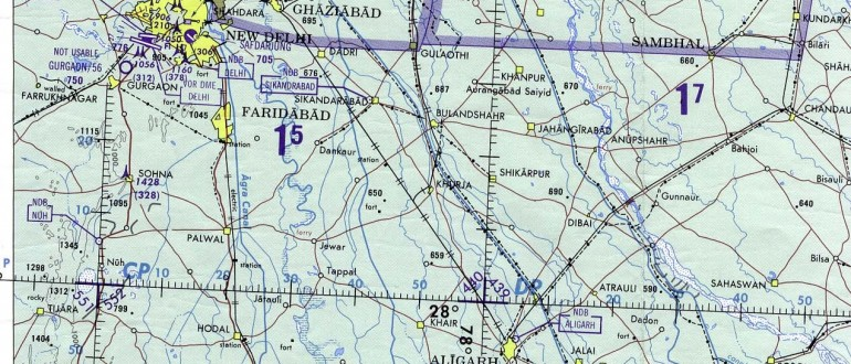 Delhi-and-Agra-Operational-Navigation-Chart