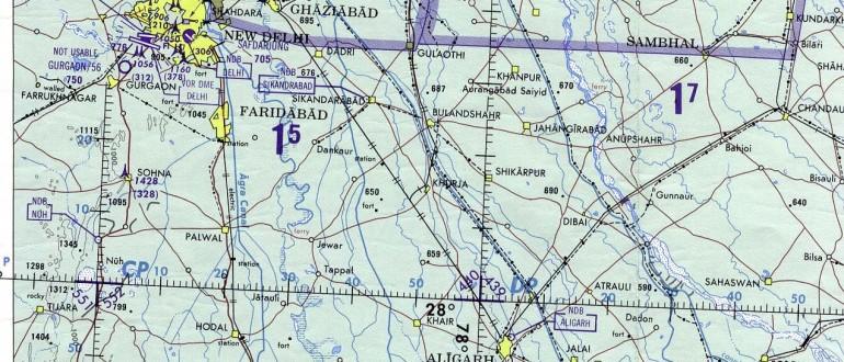 Delhi-and-Agra-Operational-Navigation-Chart