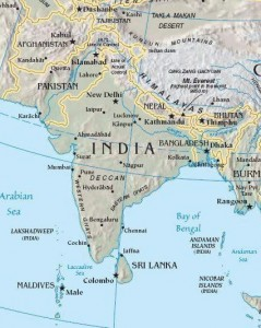 India-South-asia-Map