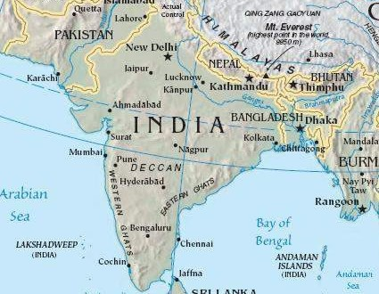 Map Of Asia India.India South Asia Map Maps Of India