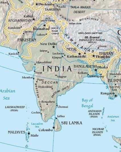 South Of Asia Map.India South Asia Map Maps Of India