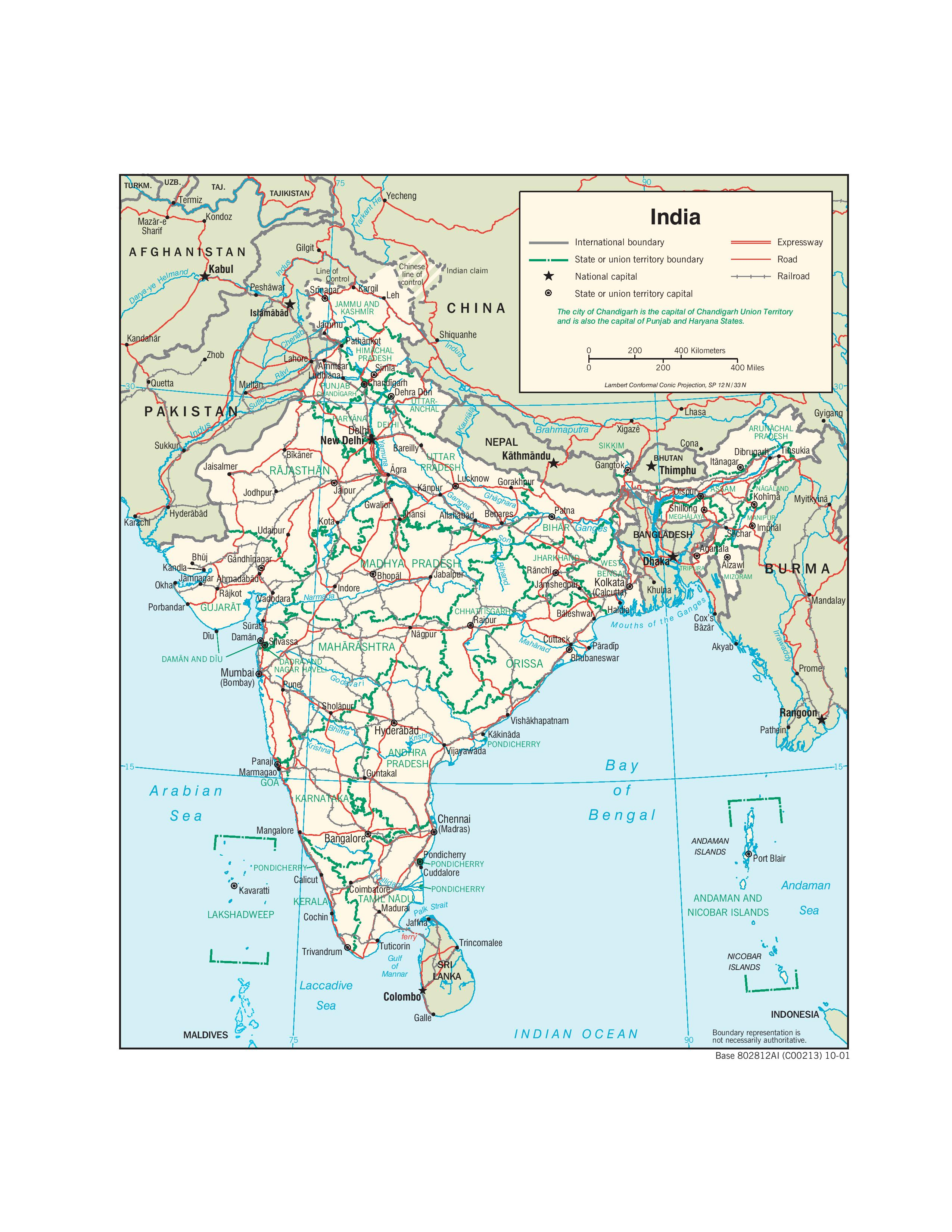 India-Transportation-map