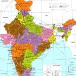 India regions citys map
