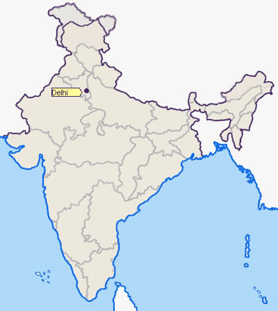 Location-of-Delhi - Maps of India on