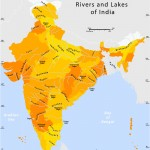 Rivers and lakes India map