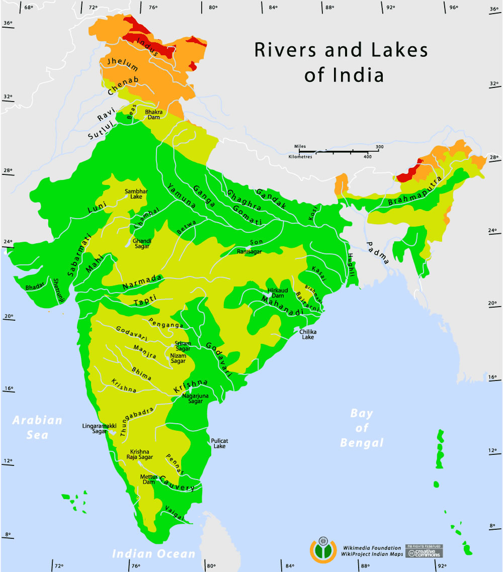 map of rivers and lakes Rivers And Lakes Topographic Map Maps Of India map of rivers and lakes
