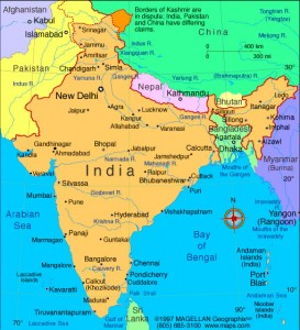 Rivers-india-map