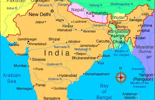 Rivers India map   Maps of India