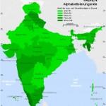 Alphabetisierungsrate indien karte
