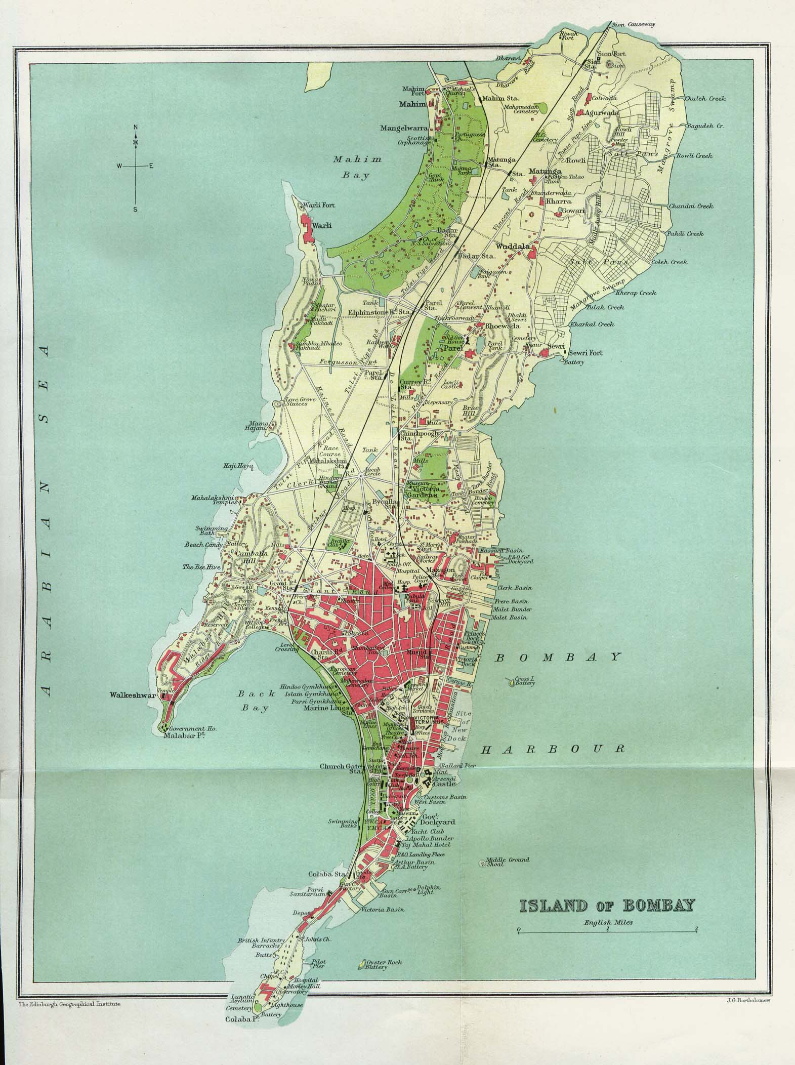 bombay-india-historical-map-1909
