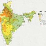 Crop areas map of india 1973
