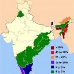 Distribution of christians in Indian states map