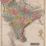 Historical map of India 1809