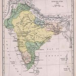 Historical map of India in 1760