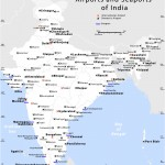 India airports and seaports map