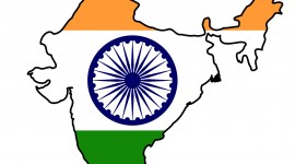 india-flag-map