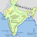 India geographical map