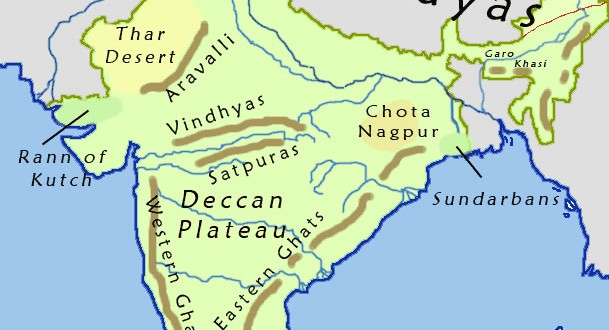 India geographical Map - Maps of India