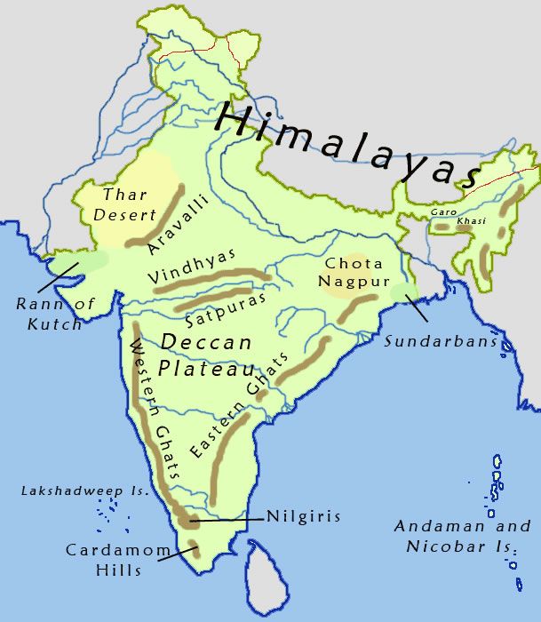india-geographical-map