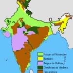 India geological regions map