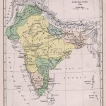 India historical map 1760 from The Public Schools Historical Atlas