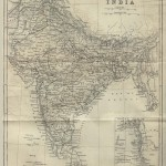 India historical map 1882, Commerce and Commercial Navigation