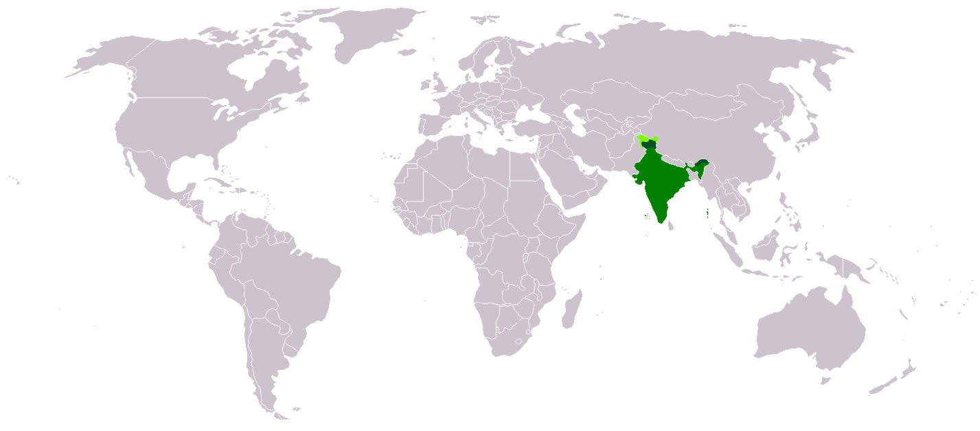 India location world map   Maps of India