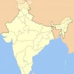 India locator map blank