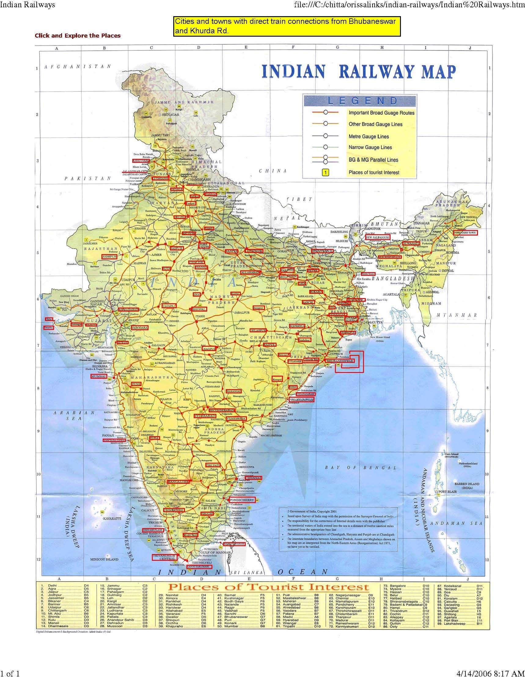 Manali India Map.India Map Bbsr Direct Train Full Maps Of India