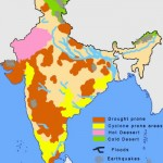 India natural hazards map