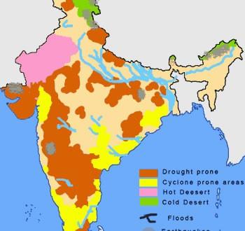 India natural hazards map maps of india india natural hazards map gumiabroncs Images