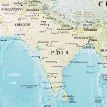 India pakistan physical map