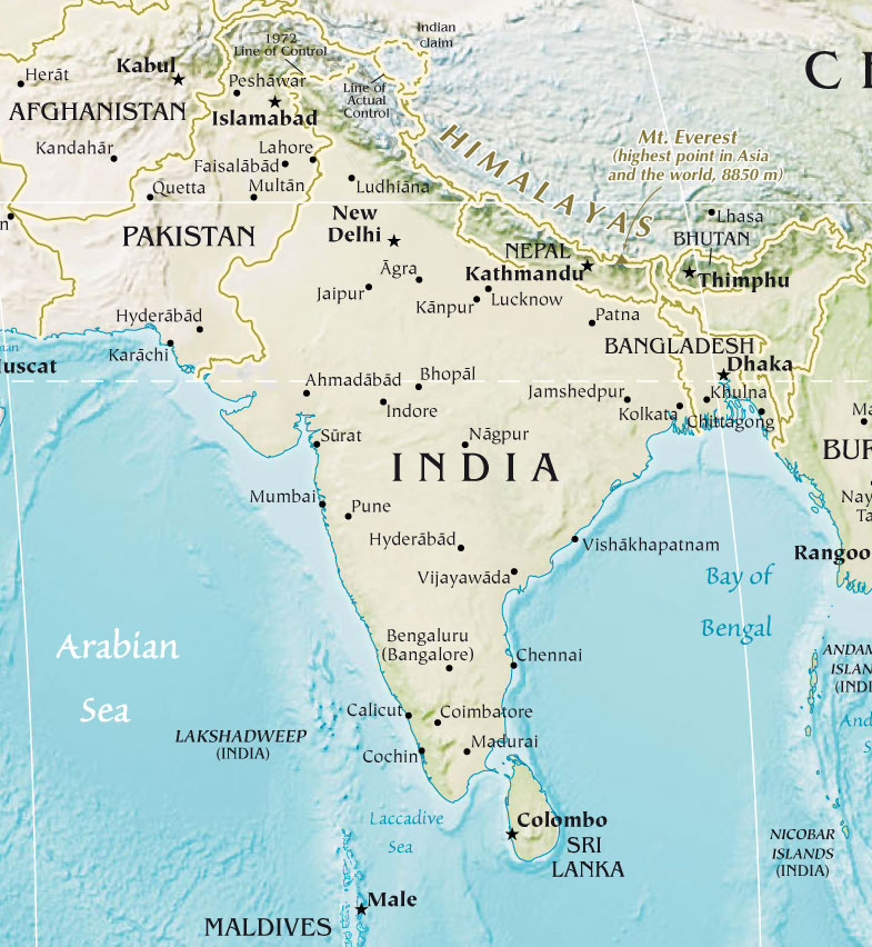 india-pakistan-physical-map