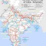 India railway schematic map