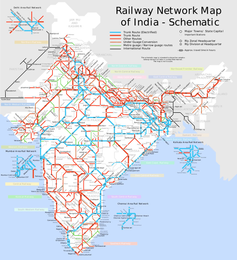 schematic map  | maps-of-india.com