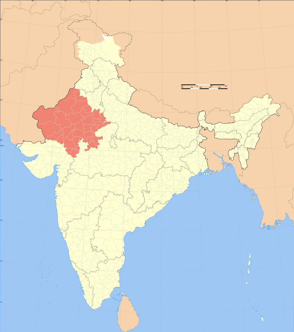 Rajasthan Carte Monde.India Rajasthan Locator Map Maps Of India