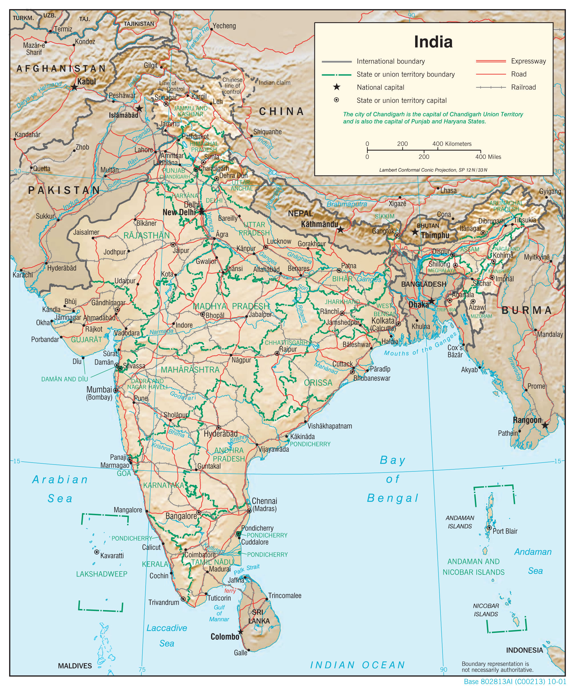 India cities Map India delhi Map India bombay Map India tourist Map