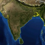 India satellite map