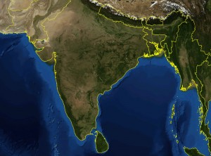 india-satellite-map