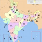 India states numbered map