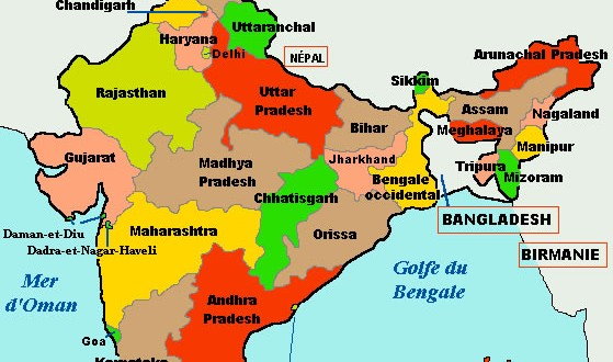 India stats map - Maps of India