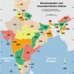 Indien bundesstaaten und unionsterritorien map
