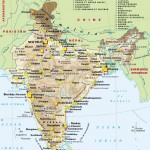 Map of India airport city states