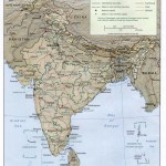 Map of relief India