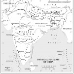 Physical features of India map